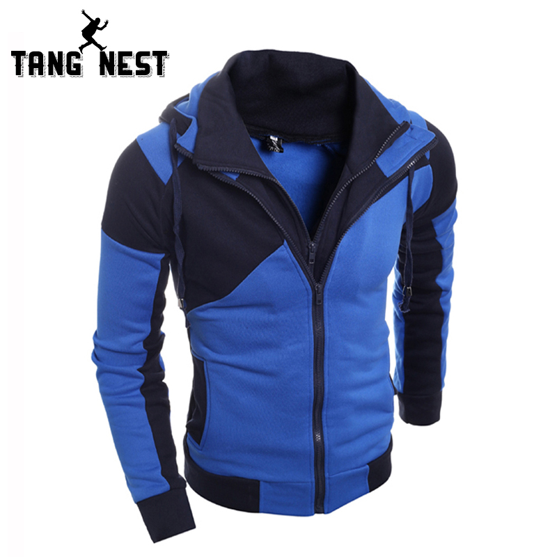 TANGNEST New Arrival 2018 Men Hooded Sweatshirts Slim Personality Fashion Hoodies Soft Fit Casual Sweatshirts Male MWW863