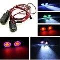 Светодиодная лампа Angel Eye 13 мм/17 мм  2 светодиода  лампа для 1: 10 радиоуправляемых грузовиков  автомобилей синего и белого цвета