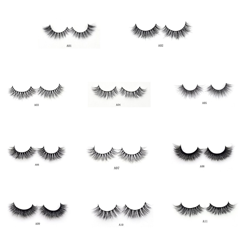 Visofree Mink Eyelashes 3d Mink Lashes Light Volume Natural Mink False Eyelashes Cruelty-free Mink Upper Lashes 11 Styles Makeup
