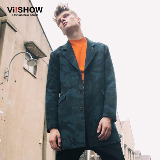 2016 nueva moda otoño invierno estilo Slim Fit Trench Coat hombres para hombre abrigo cazadora de camuflaje chaqueta chaqueta Jaqueta Masculina