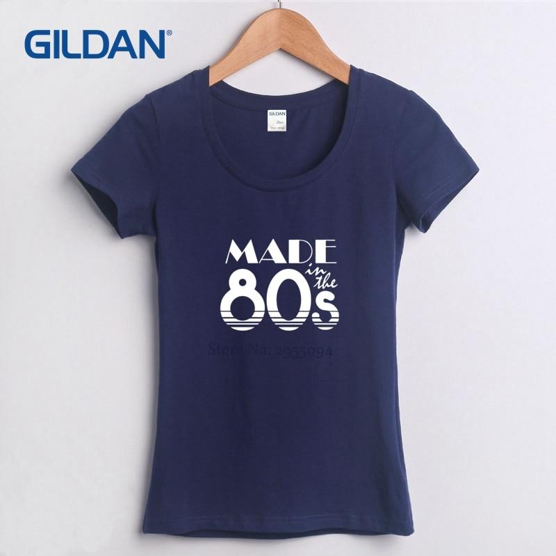 d53d449a Made In The 80'S College 1980 Birthday 2018 womens Low Cut T-Shirt Hip-Hop T  Shirt T Shirt Cotton Grey Tee Shirt For women