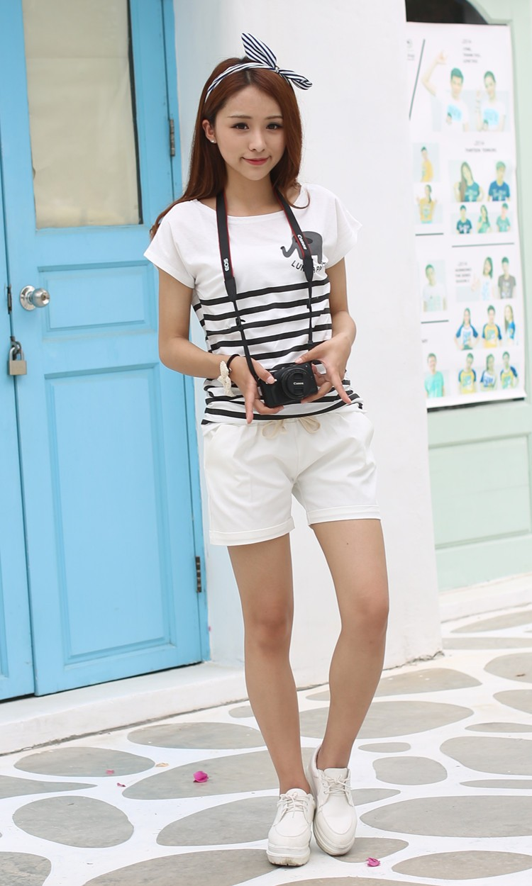 Summer Style Shorts Women Candy Color Elastic With Belt Short Women 39