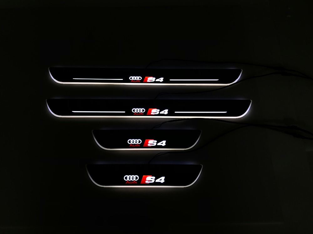 eOsuns Acrylic LED moving door scuff Nerf Bars & Running Boards plate door sill For Audi A4 S4 RS4, moving light free ship rear door of high quality acrylic moving led welcome scuff plate pedal door sill for 2013 2014 2015 audi a4 b9 s4 rs4 page 5