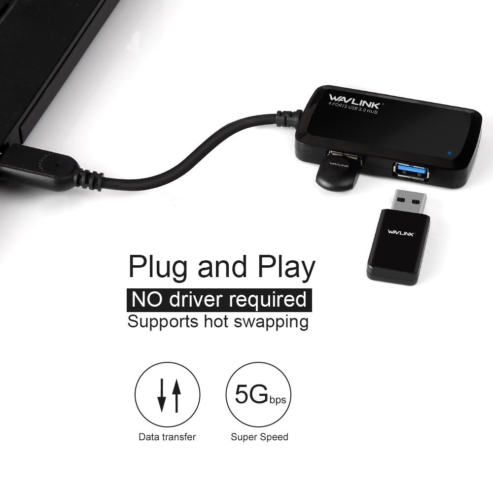Wavlink USB 3.0 HUB 4 port suure kiirusega 5Gbps USB hubeldusseadme - Arvuti välisseadmed - Foto 4