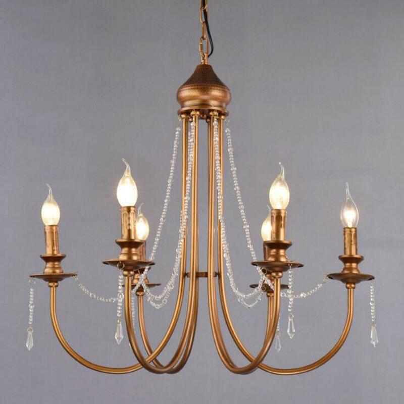 American Restaurant Lamp 6 Nordic Bronze Candlestick