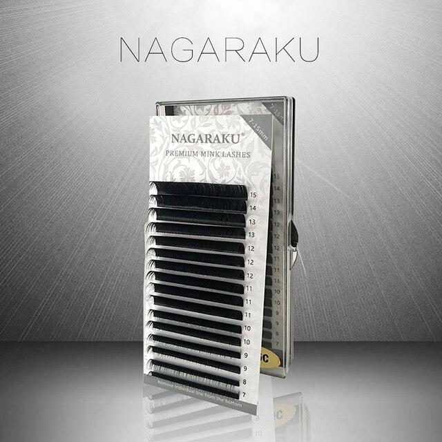 NAGARAKU 16rows/case 7-15mm Mix Mink eyelash Faux individual eyelash extension synthetic individual eyelash extension cilia lash