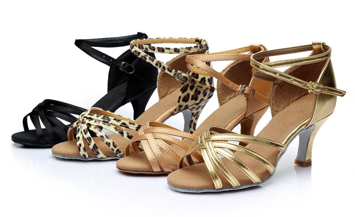 Nieuw merk meisjes damestoilet tango salsa latin dansschoenen 5cm en 7cm hak stijldansen schoenen