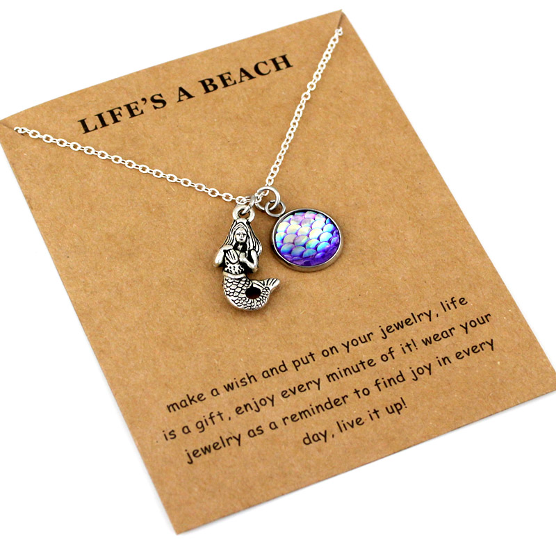 Ocean Waves Beach Pendants Necklaces Starfish Conch Shell Sea Turtle Fish Shark Charm Women Men Unisex Fashion Jewelry Gift in Pendant Necklaces from Jewelry Accessories