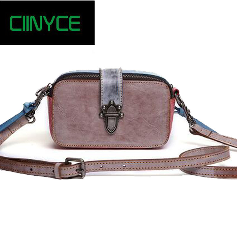 Cow Leather Mini Women Handags 2018 Female Shoulder Ladies Small Clutches Purse Strap Lady Symmer Crossbody Messenger Bags