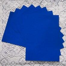 A4*8 шт.) голубой цвет полиуретан винил передачи тепла винил для Одежда из железа на виниловая пленка pu для футболка винил текстиль для тепла Пресс