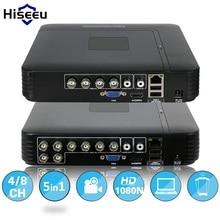AHD 1080N 4CH 8CH видеонаблюдения DVR мини видеорегистратор 5IN1 для комплект видеонаблюдения VGA HDMI системы безопасности Mini NVR для 1080 P IP Камера ONVIF DVR PTZ H.264