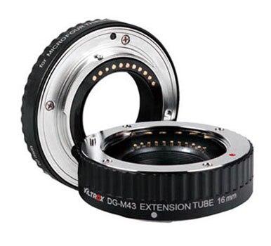 Viltrox Macro AF Auto Focus Extension DG Tube 10mm 16mm Set Ring Metal Mount for Micro M4/3 MFT Olympus E-P1 E-P2 Panasoni macro extension tube for sony e mount ac ms silver grey