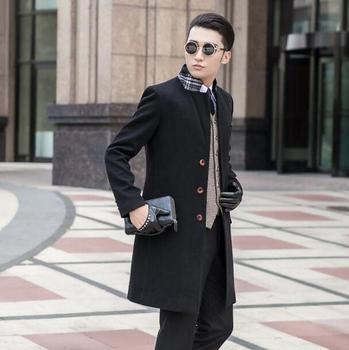Black grey khaki blue long sleeve wool coat men jackets and coats mens slim wool overcoats winter trench coats outerwear S – 9XL