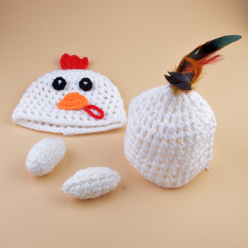 Book Cover Crochet Hats : Crochet chicken hat butt cover set knitted infant