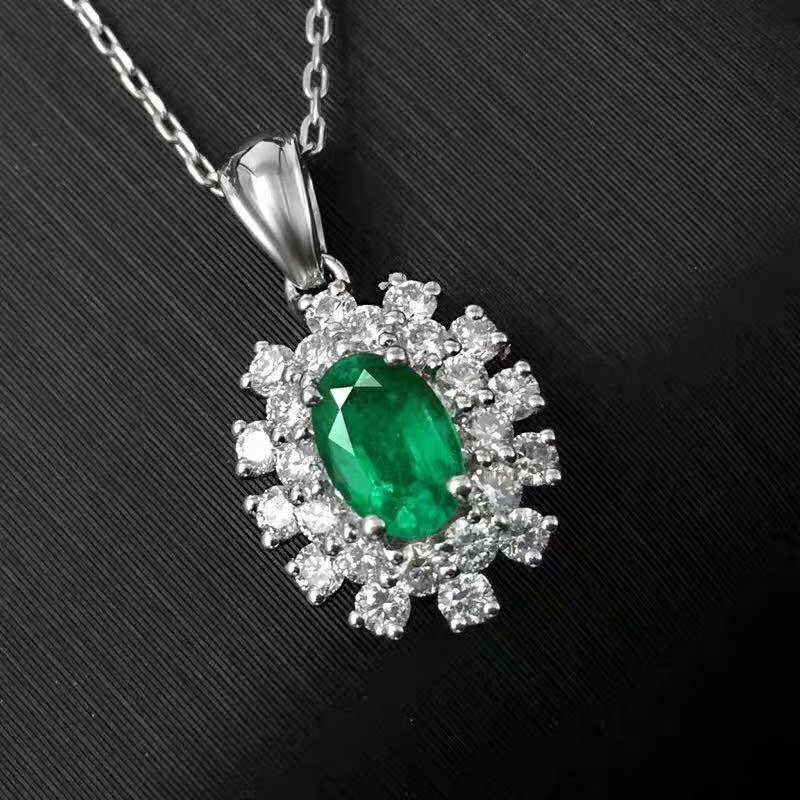 SHILOVEM 925 sterling silver real Natural Emerald Pendants classic fine Jewelry women wedding wholesale new 4*6mm jcz040608agmlSHILOVEM 925 sterling silver real Natural Emerald Pendants classic fine Jewelry women wedding wholesale new 4*6mm jcz040608agml