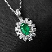 ebaa801a23a8 SHILOVEM 925 real de plata esterlina Esmeralda Natural colgantes clásico  bien joyería de las mujeres de