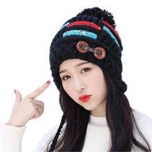 SUOGRY Skullies Beanies Winter Hat For Women Lovely Warm with three Hairball Knitt Cap Fashion Hats