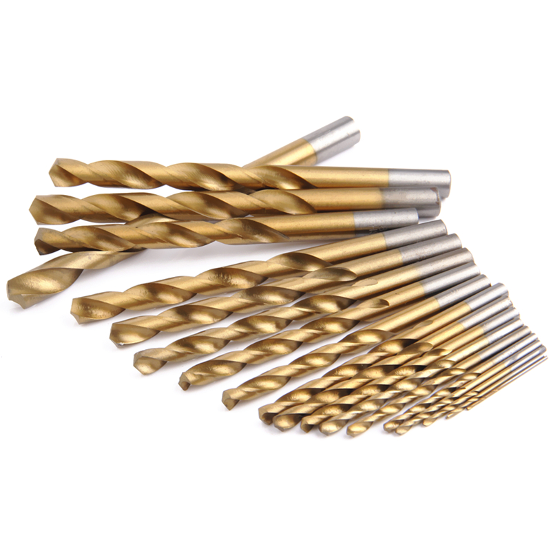 EVANX 1-10mm Wood Drill Twist Drill Bit Set HSS Drill Bits For Metal Electric Drill Woodworking Tools 19PCS evanx 40 pcs twist drill bit set hss