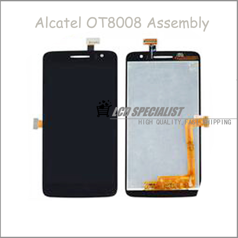ФОТО New Original For Alcatel OT8008 OT-8008A 8008W 8008D 8008X 8008 LCD Display+Touch Screen Digitizer Full Assembly