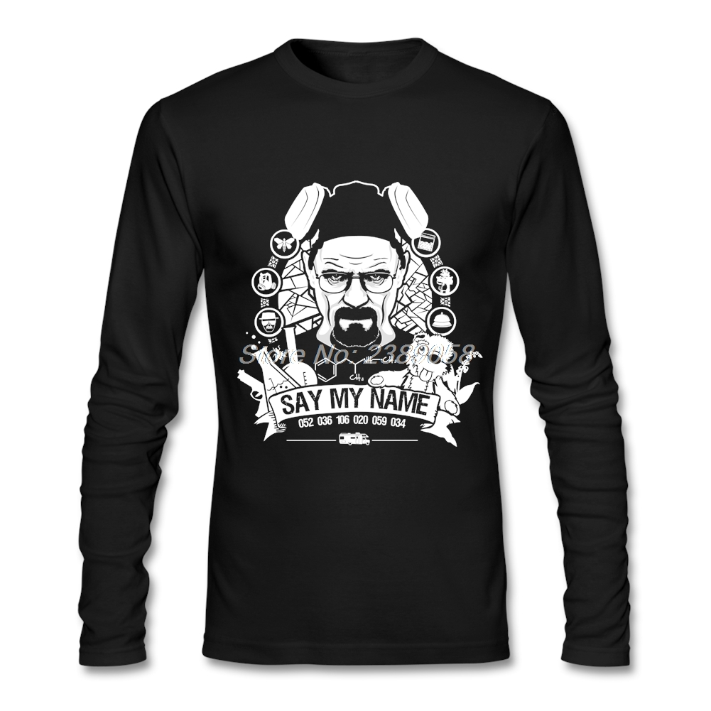 Mens tee shirt say my name funny novelty heisenberg for Luxury mens t shirts