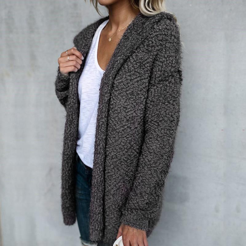 Fuzzy Hooded Warm Winter Cardigan Sweater Jacket – Ventcri 5948a1356