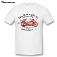 Men T Shirt Original Custom Quality And Strength Red Motorbike Handcrafted Garments Printed Short Sleeve Tees