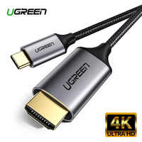 Ugreen USB C HDMI Cable Type C to HDMI Thunderbolt 3 for MacBook Samsung Galaxy S10/S9 Huawei Mate 20 P20 Pro USB-C HDMI Adapter