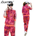 4 Colors Casual Women Sets Clothes 2 Pieces Top Hoodies and Pants 2017 Spring Autumn Women Sets Fashion Printed Sporting Suits