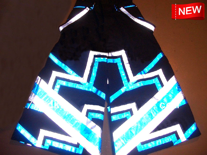 Geometric Melbourne Shuffle Pants Fluoreszierend DJ PHAT Pants Raver ore Techno Hardstyle Tanz Hose Reflective Trousers NEW