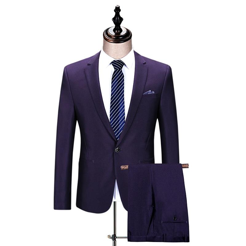 Traje formal hombre morado