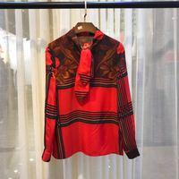 S01289 Модные женские блузки и рубашки для мальчиков 2019 взлетно посадочной полосы Элитный бренд Европейский дизайн вечерние стиль