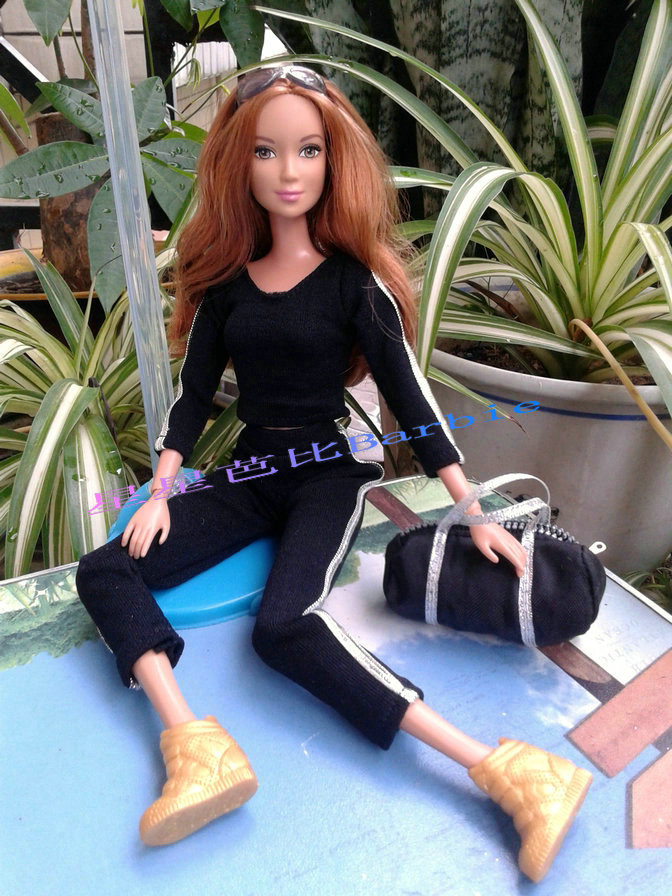 Xmas present for ladies Handmade Fairly top quality Sports activities High +trousers Garments Swimsuit For Barbie 1:6 Doll BBI00126