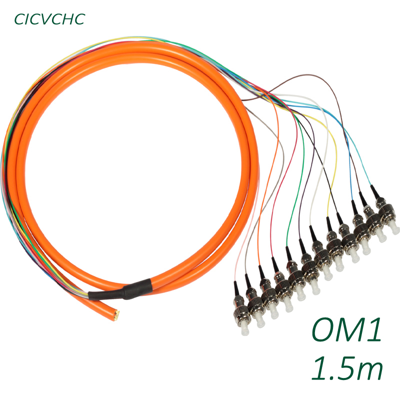 12C Cable with FC/UPC OM1 1.5m -PVC-Orange / Optical Fiber Pigtail12C Cable with FC/UPC OM1 1.5m -PVC-Orange / Optical Fiber Pigtail