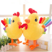 Colorful Chicken Plush Toy Plush Animes Soft Toys Gift Bring Auspicious For Kids and Adult Gadget