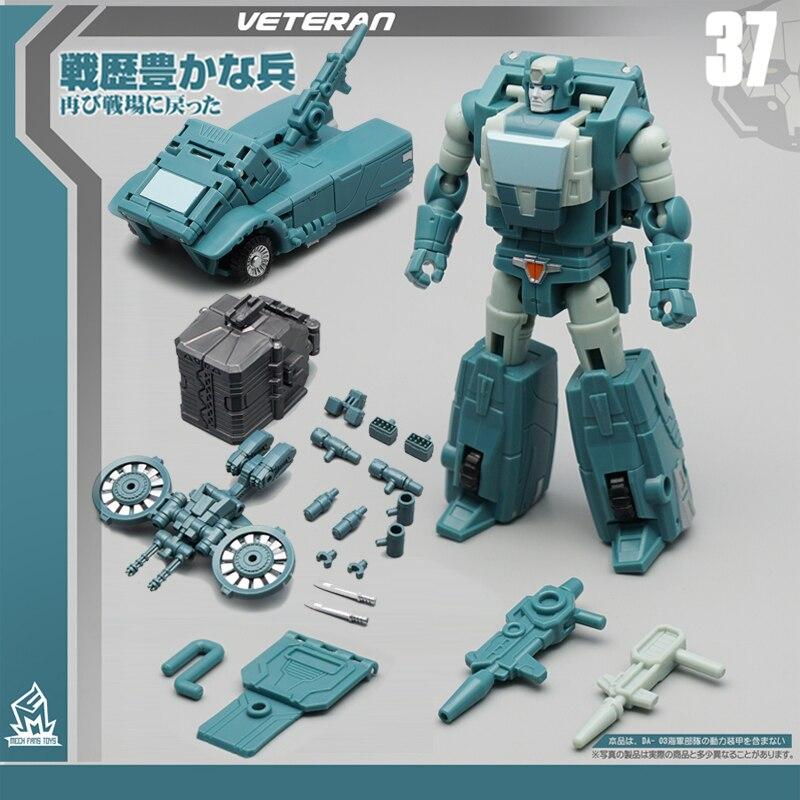 G1Transformation MFT Kup Old Solider MF-37 MF37 Pocket War Pioneer Series Mode Action Figure Robot Toys