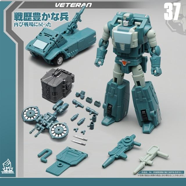 G1Transformation MFT Kup Old Solider MF 37 MF37 Pocket War Pioneer Series Mode Action Figure Robot Toys