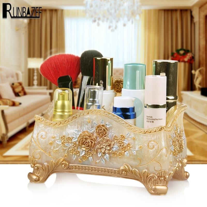 RUNBAZEF Manufacturers Promote New Resin Make up Boxes Fashion Jewelry Stores Storage Desktop Sundries Organizer