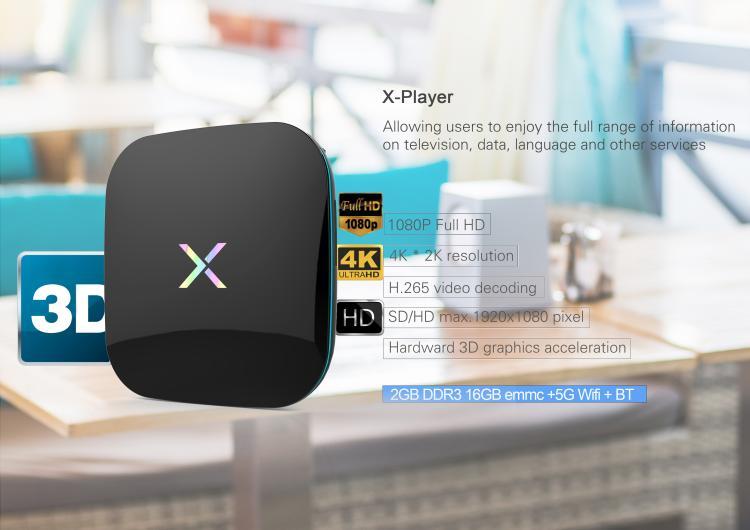 New X-Player Android 6.0 TV Box 2GB RAM 16GB EMMC Amlogic S912 Octa Core KODI 17.0 4K WiFi Smart IPTV Box Media Player Miracast diamond a9 android 6 0 tv box amlogic s912 2gb 16gb quad core wifi hdmi 4k 2k hd smart set top box media player mini pc iptv box