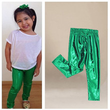 Baby Children Clothing Fashion Trend Baby Kids Girls Pants Shiny Solid Skinny Leggings Pants Trousers 1-9Y Meryl Coated Fabrics
