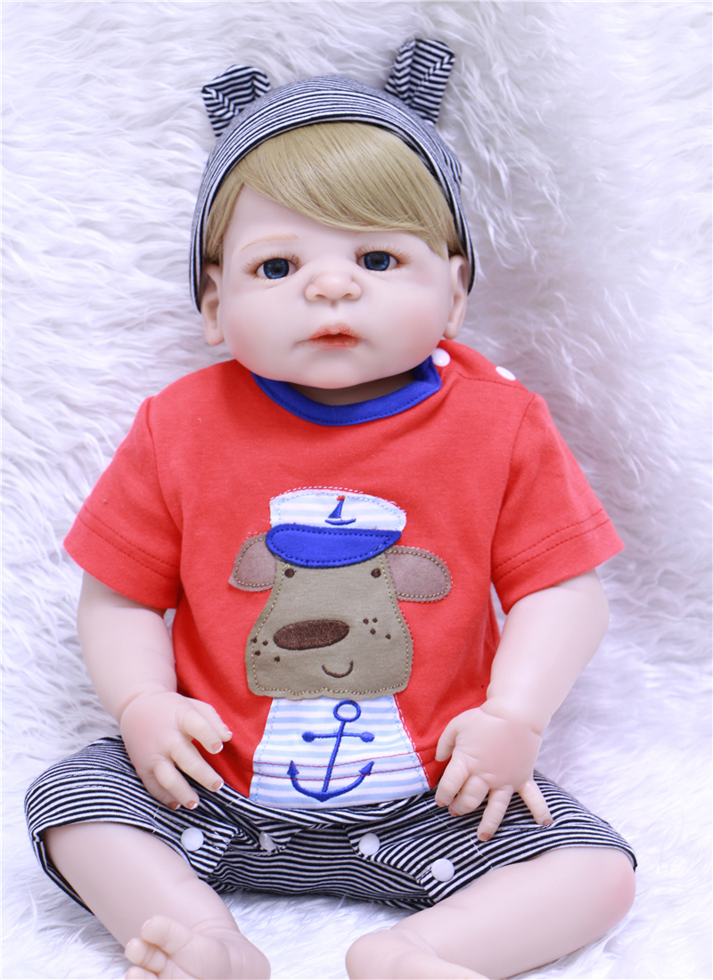 NPKCOLLECTION Full Silicone Reborn Baby Doll Toy Lifelike 55cm Newborn Boy baby Doll Lovely Birthday Gift For bebe kids bonecasNPKCOLLECTION Full Silicone Reborn Baby Doll Toy Lifelike 55cm Newborn Boy baby Doll Lovely Birthday Gift For bebe kids bonecas