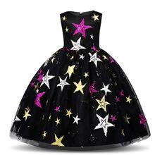 Gril Dresses Kids Christmas Dress New Year Pincess Knee-length Sleeveless Party Birthday Children Clothes цены