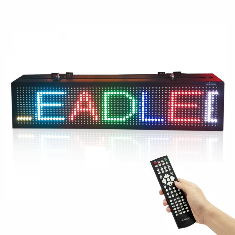 20 Inch Remote Control Programmable SMD Scrolling RGB Full Color LED Sign Message Display Board