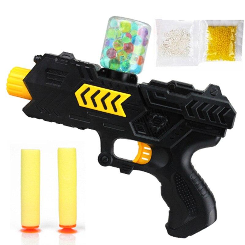 Juego de Disparo de Agua Cristal 2-en-1 Pistola de Aire Suave Pistola Rifle de A