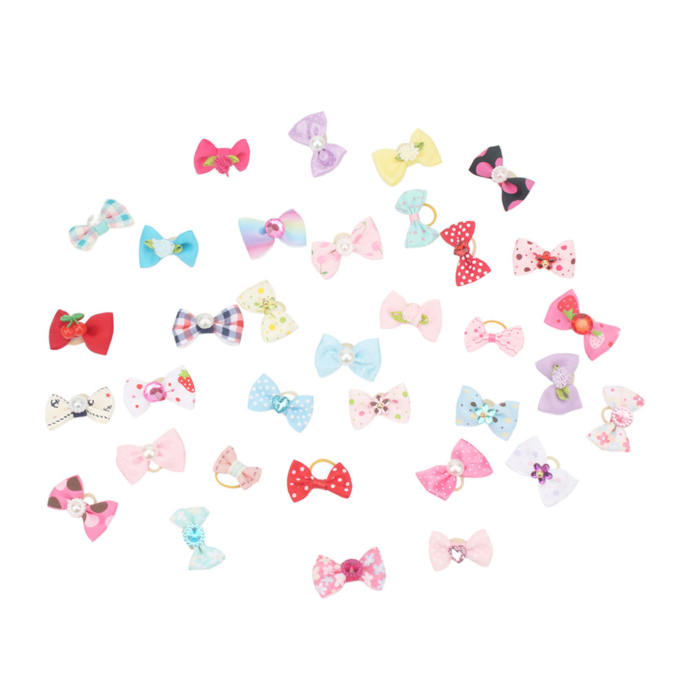 Small Dogs Bows Hair Accessories Yorkshire terrier Grooming For Pets Grooming Clips Table Bows gumki dla psa kokardki dla psa