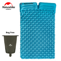 NatureHike Camping Inflatable Mattress For 2~3 Person 185*115*5cm Big Size Portable Air Pad Moisture proof Mat NH17T120 U