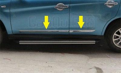 Chrome door Side body Molding trim for Mitsubishi ASX RVR Outlander sport 2010-2017 4pcs chrome abs side door body molding surround cover trim for mitsubishi outlander sport asx 2013 2014 2015 car styling