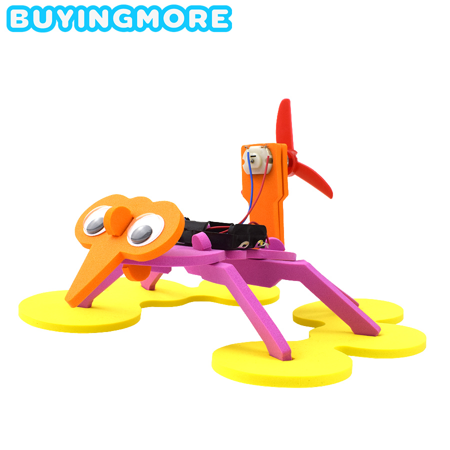 Electric Water Spider Robot Model Kits DIY Educational Science Toys For Children Experiment Assembly Toy For Kids Boys Gifts