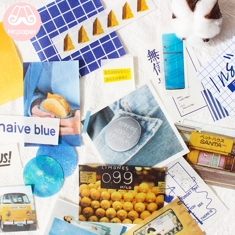 Mr.paper 7 Designs 68Pcs/lot Ins Style Artsy Photos Deco Stickers Scrapbooking Bullet Journal Popular Deco Stationery Stickers