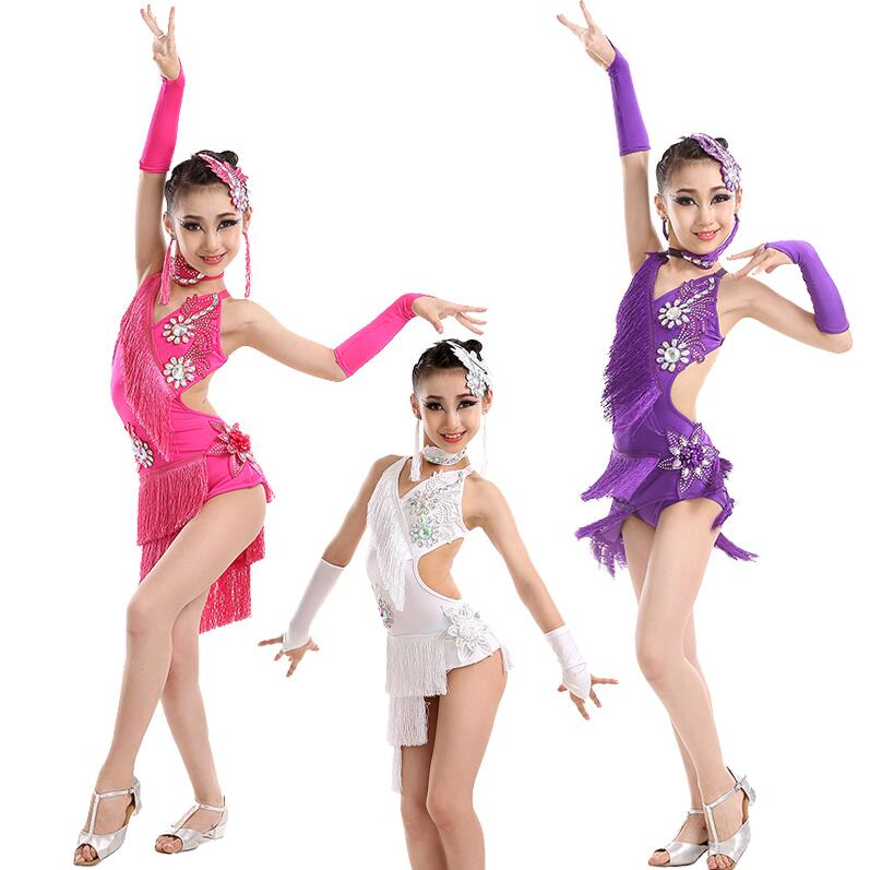 New Latin Dress Kids Fringe Ballroom Tango Samba Salsa Dance Competition Dresses Sale Dance Wear Latin Dance Dress For Girls