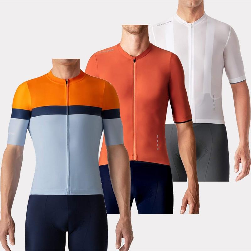 Roupa Ciclismo RUNCHITA Cycling Summer Short Sleeve Cycling Clothing Set Fietskleding Wielrennen Zomer Heren Set Cycle Maillot